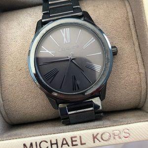 Michael Kors Metallic Navy Blue Watch